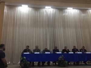 Конференция отцов-основателей каратэ. Ведет Сергей Бадюк. Среди участников мастера Танюшкин, Крысин, Йорган