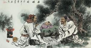 Бессмертные играют в Го. Традиционный сюжет китайских легенд о происхождении игры. Google и Facebook есть на кого равняться