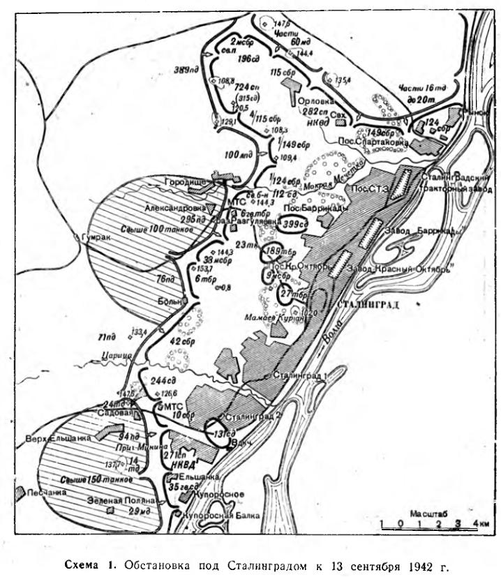 Карта обороны Сталинграда