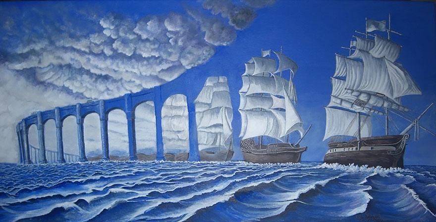 иллюзия с кораблями
