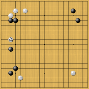 Рисунок 1. Лян Сяо (7 дан) против AlphaGo
