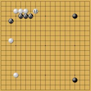 Рисунок 5. AlphaGo (черные) Ян Цзаймин (белые)