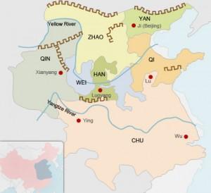 Карта сражающихся царств